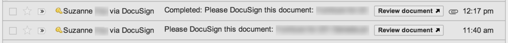 Gmail DocuSign Integration