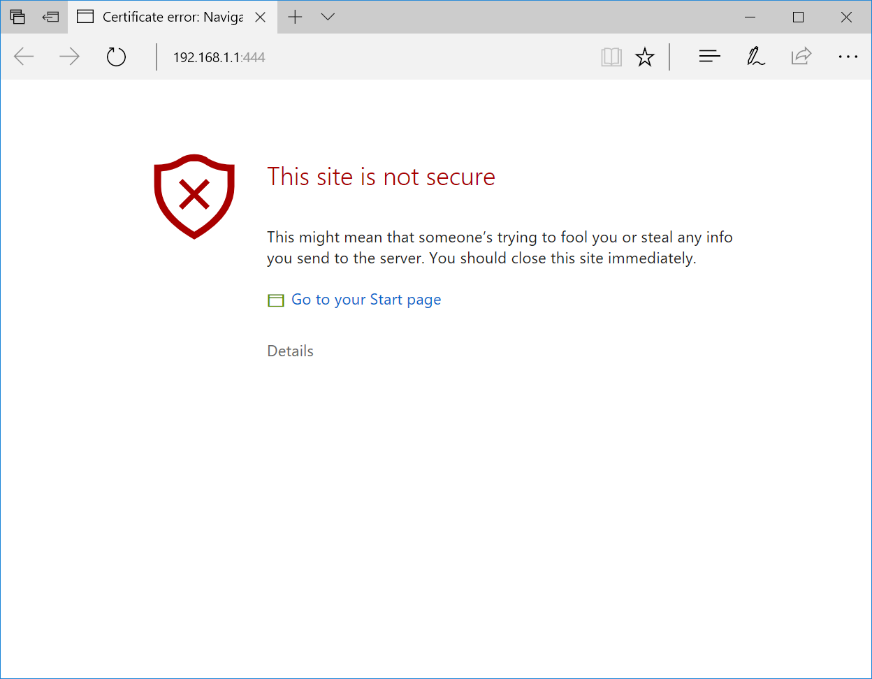 Lets stop punishing iot devices that embrace https shall we with a self signed certificate with its ip address as the common name looks like in chrome firefox internet explorer edge and safari what do 1betcityfo Images
