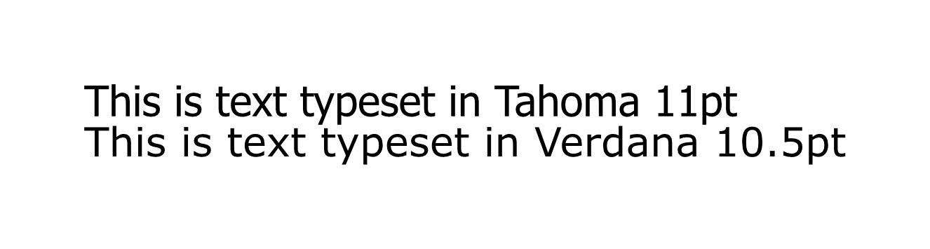 tahoma vs verdana