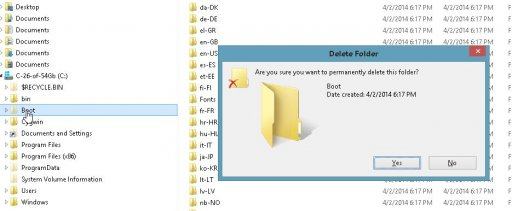 How to remove boot folder | NeoSmart Forums