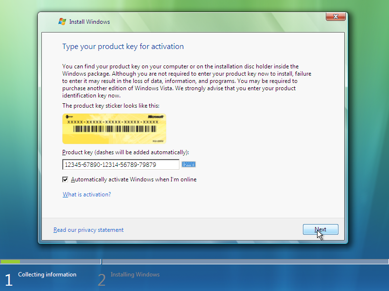 windows vista premium product key