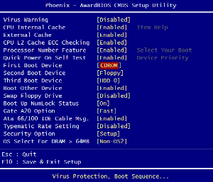 9538a9973d Booting from a CD or DVD