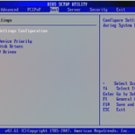 American Megatrends BIOS Boot Select