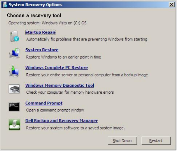 dell latitude factory reset key