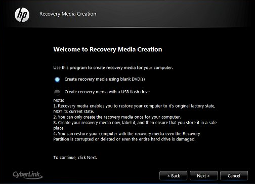 HP Recovery Disk: Guide for Windows XP, Vista, 7, 8
