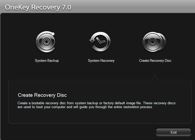 Lenovo OneKey Recovery 7.0 on Windows Vista