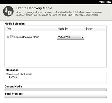 Toshiba Recovery Disk \u2013 Guide for Windows XP, Vista, 7, 8