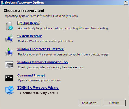 Toshiba Recovery Disk – Guide for Windows XP, Vista, 7, 8