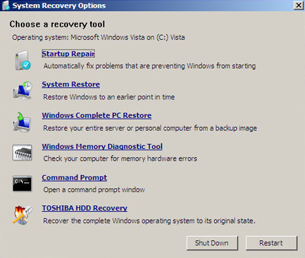 Toshiba HDD Recovery Item