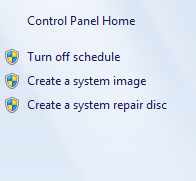 Windows 7 - Create a system repair disc item