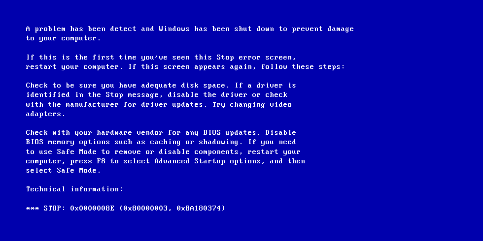 Fix Blue Screen Of Death Bsod Errors In Windows Xp