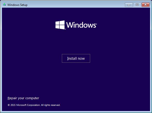 Windows 10 Repair Your Computer Menu