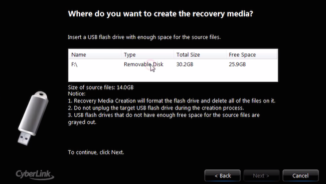 How to use system recovery disk in windows 10 (cd or usb flash).