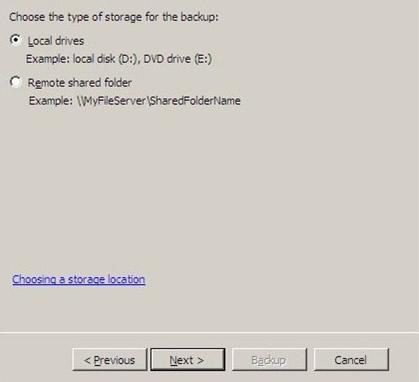 Windows Server 2008 - Local Drives