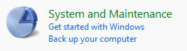 Windows Vista: System and Maintenance Icon