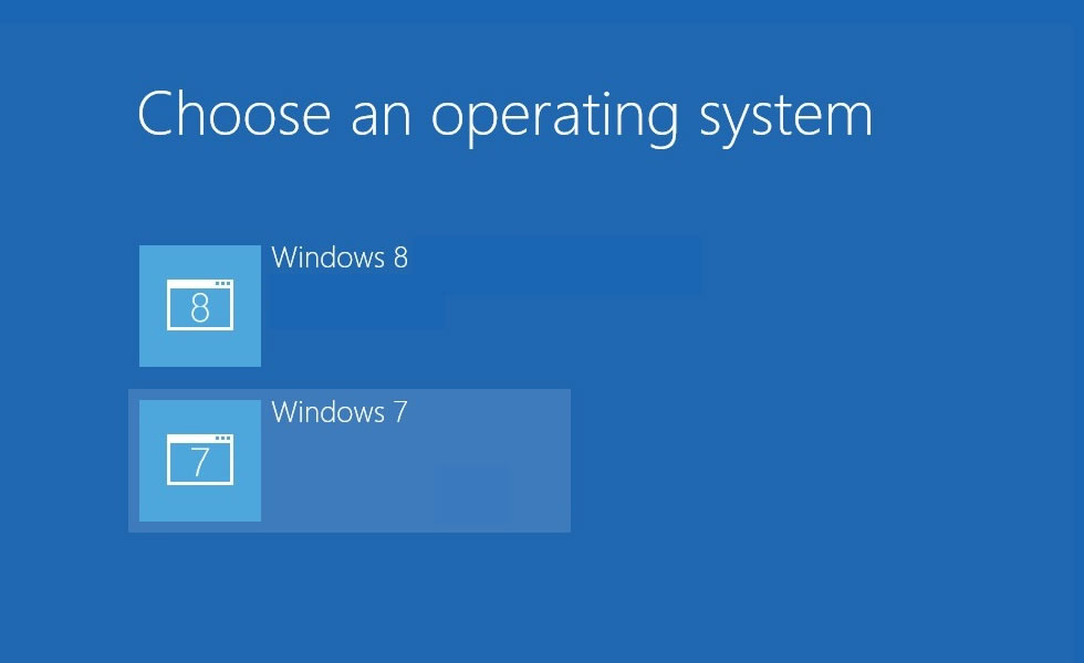 Dual Boot Options Menu on Windows 8, 7