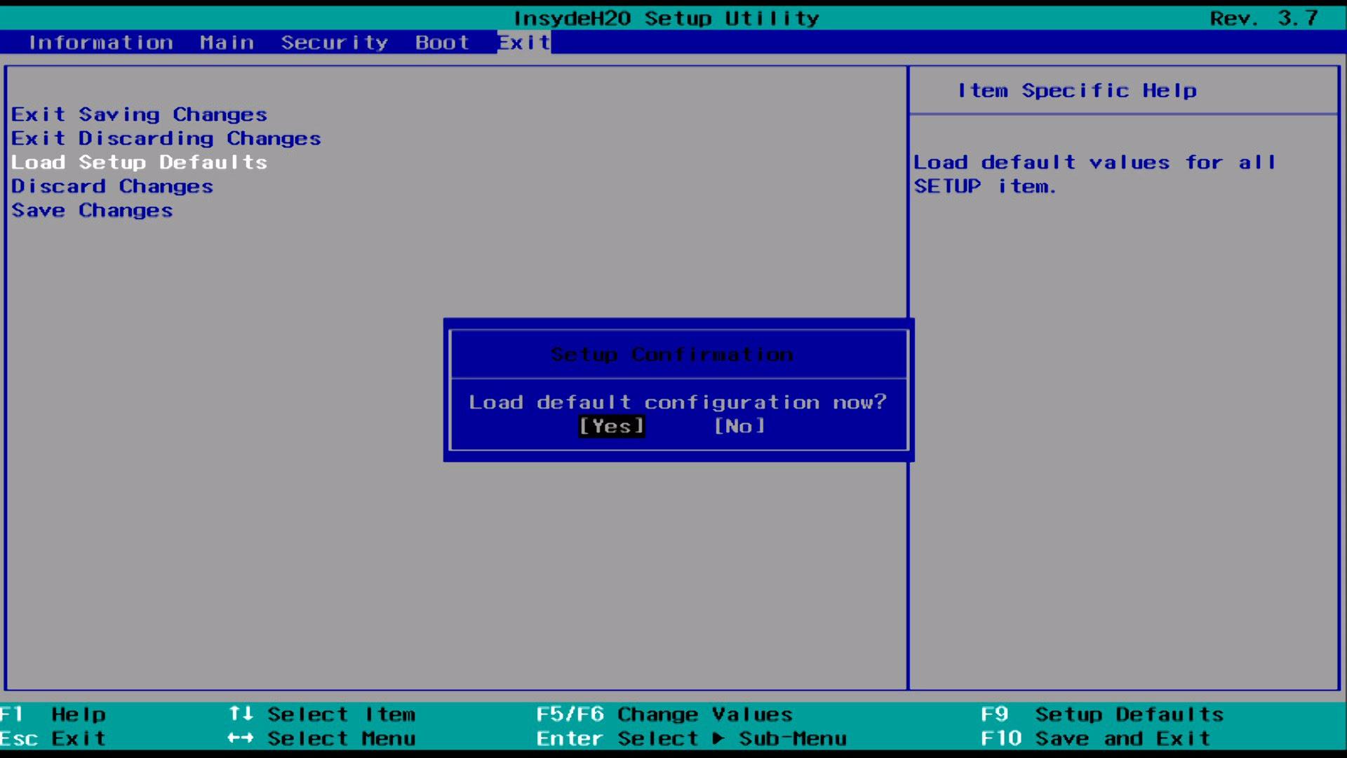 Reset BIOS/CMOS