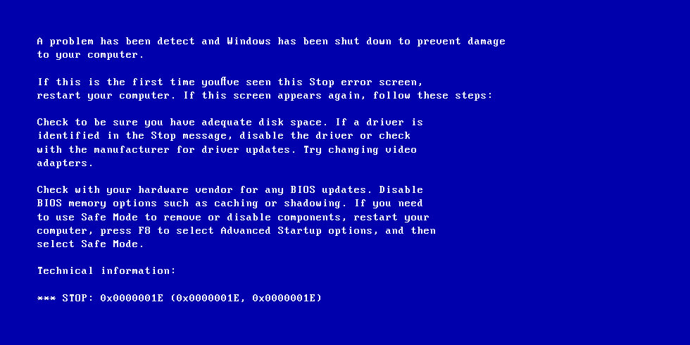 0x0000001e kmode exception not handled fix for windows - Error 404 wallpaper ...