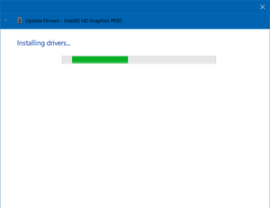 intel uhd graphics 630 driver failed